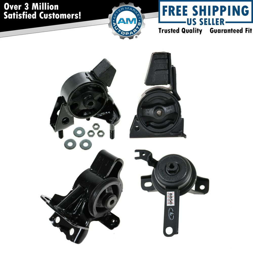 98 Toyota Corolla Parts: Engine Motor Transmission Mount KIT SET Of 4 For 98-02