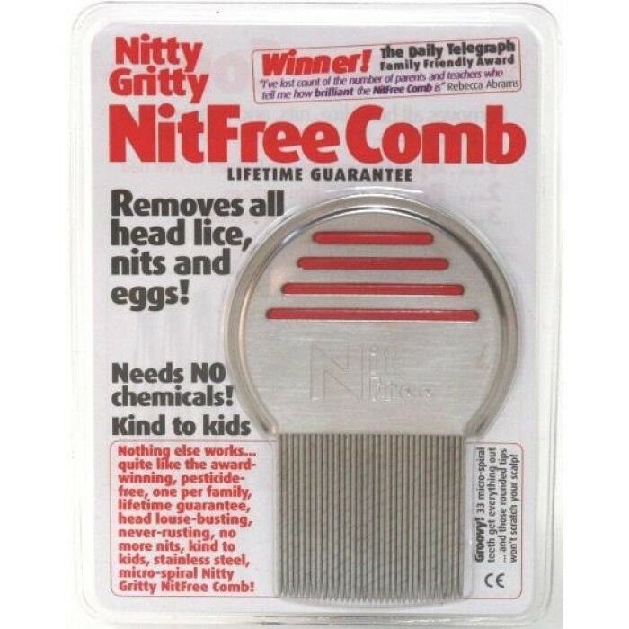 Nitty Gritty Nitfree Comb Removes Head Lice Nits Amp Eggs Ebay