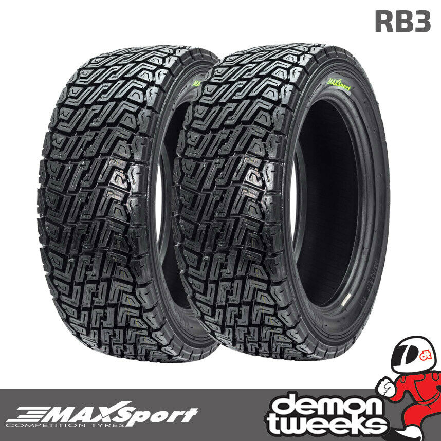 2 x 185 55 15 1855515 maxsport rb3 medium compound tyres forest rally rallying ebay. Black Bedroom Furniture Sets. Home Design Ideas