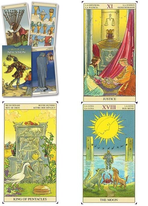 Tarot Of The New Vision NEW Sealed 78 Color Card Deck G