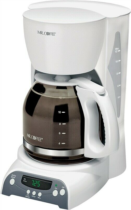 White Electric Coffee Maker : NEW MR COFFEE SKX20-NP 12 CUP WHITE PROGRAMMABLE COFFEE MAKER BREWER ELECTRIC 72179230281 eBay