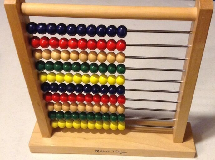Well Made Classic 100 Bead Wooden Abacus - Melissa & Doug ...