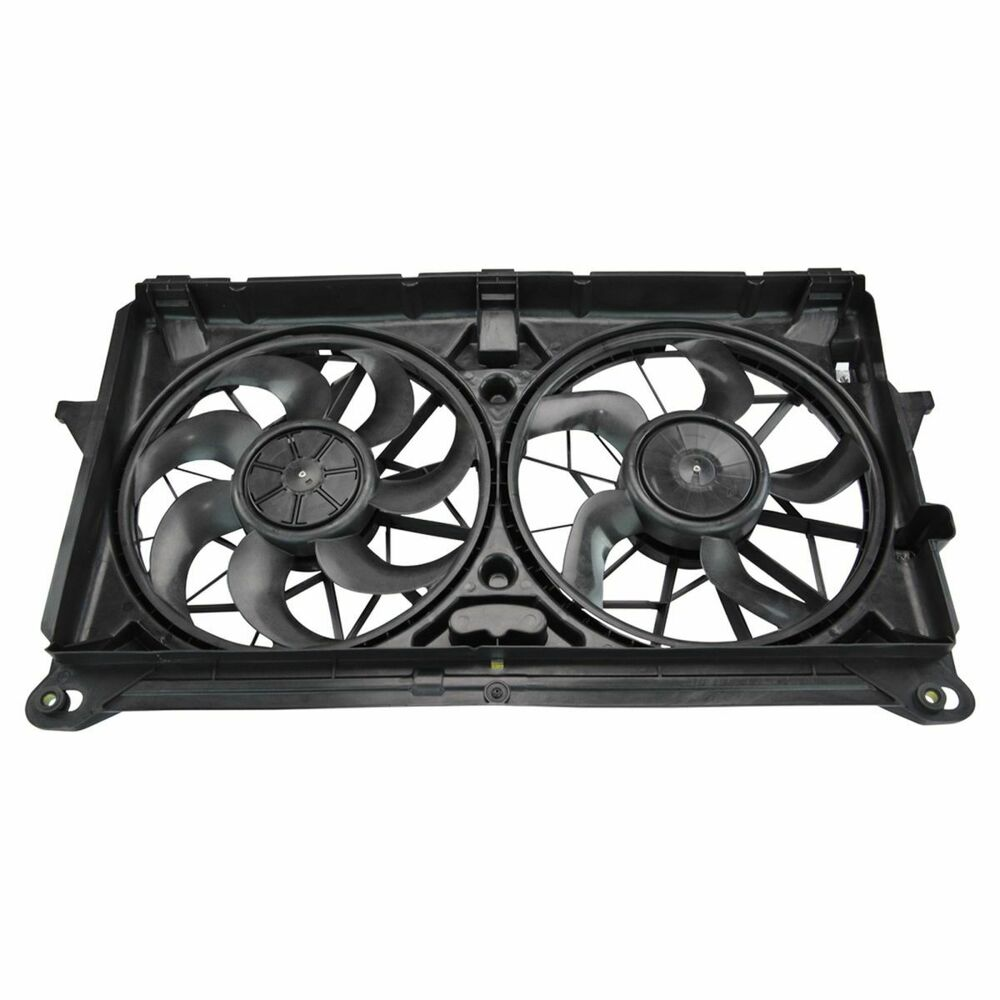 Radiator Cooling Fans : Dual radiator cooling fan assembly for chevy gmc cadillac