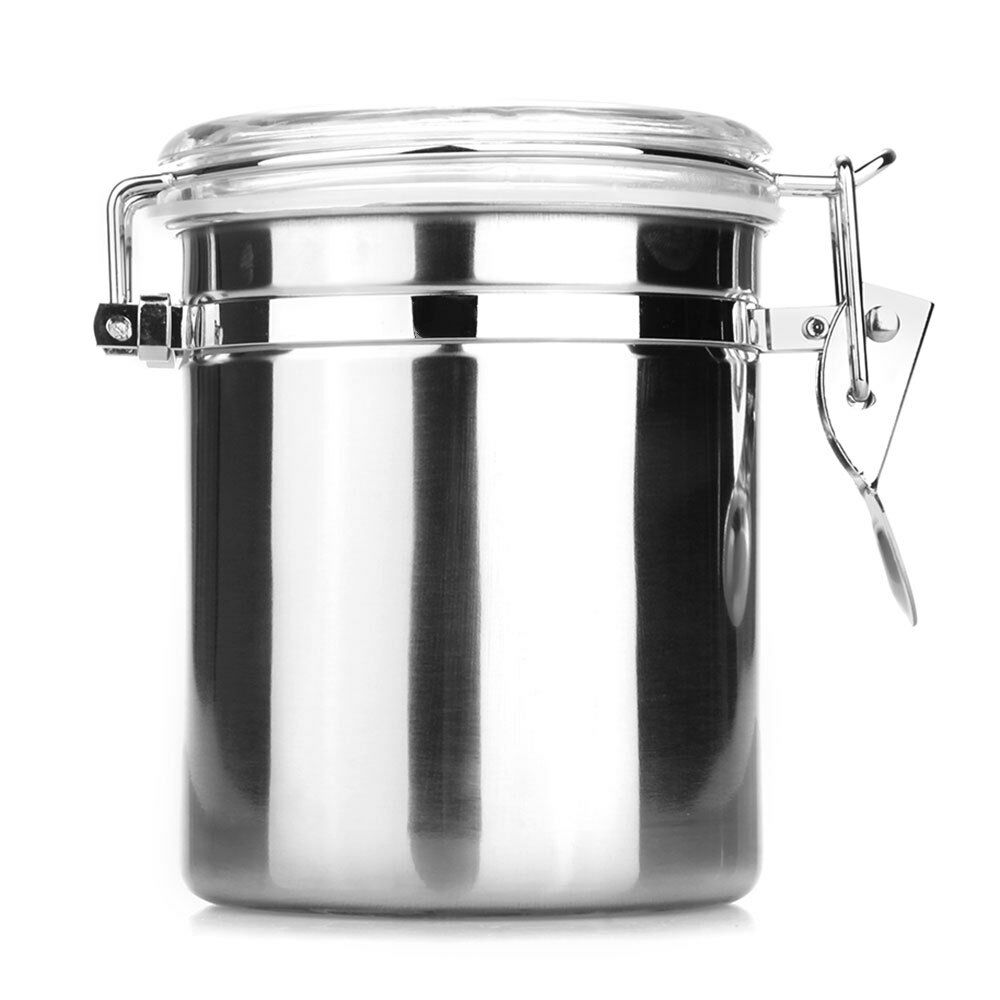 stainless steel airtight sealed canister coffee flour sugar tea container 1260ml ebay. Black Bedroom Furniture Sets. Home Design Ideas