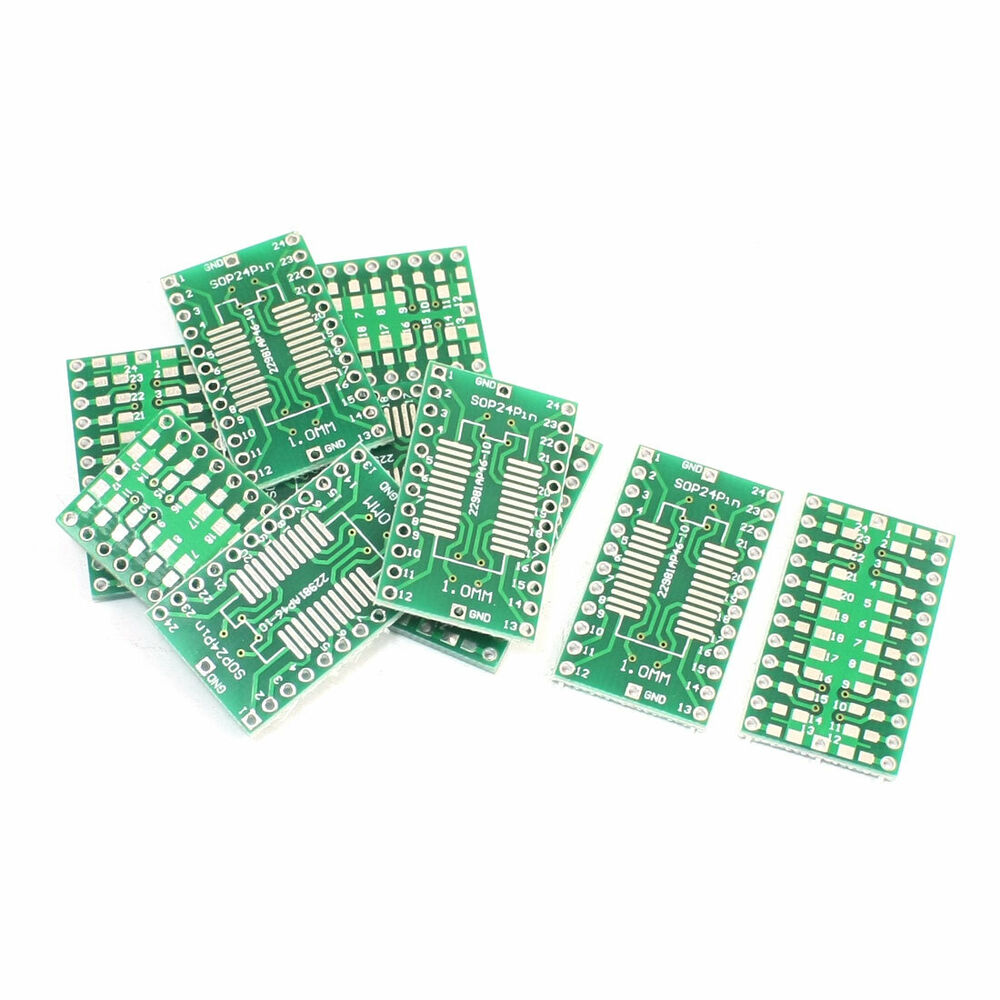 10pcs Smd Sop24 Ssop24 Tssop24 1mm To Dip 254mm Adapter Pcb Plate Diy Prototype Paper Universal Experiment Matrix Circuit Board 702105551844 Ebay