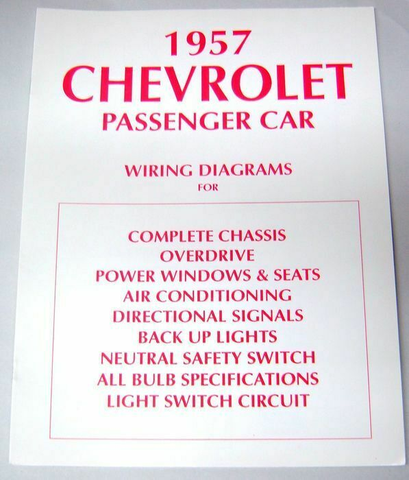 57 1957 Chevy 150 210 Bel Air Electrical Wiring Diagram