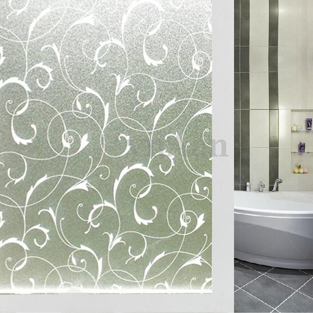 45x100cm static cling cover flower window frost glass for Glass windows