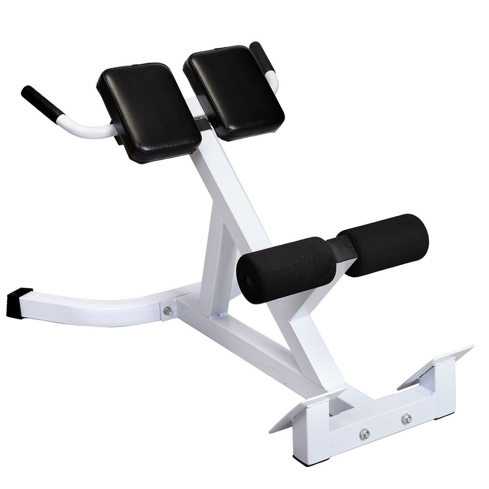 Goplus Extension Hyperextension Back Exercise Ab Bench Gym Abdominal Roman Chair Ebay