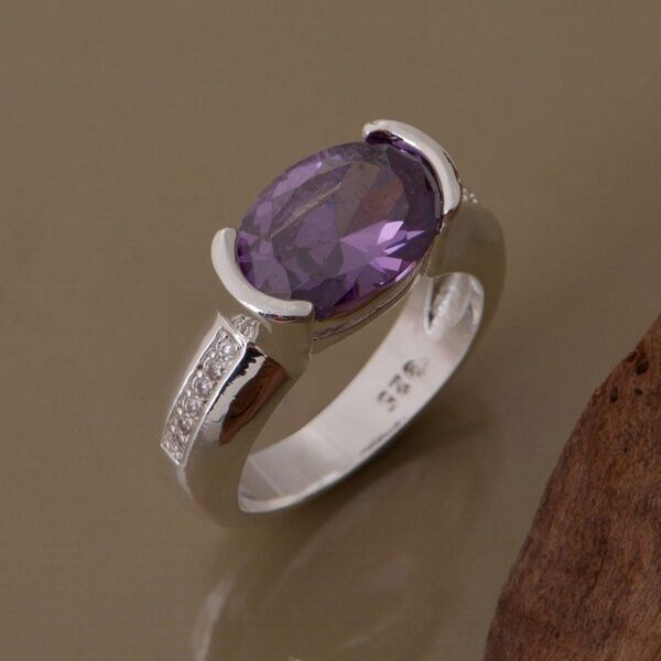 Beautiful Cute White Purple Fashion Silver Austria Crystal