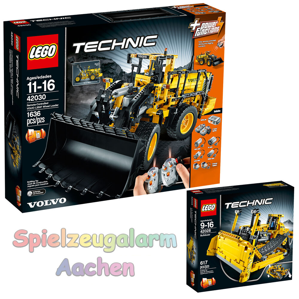 lego technic 42030 volvo l350f radlader 42028 bulldozer. Black Bedroom Furniture Sets. Home Design Ideas