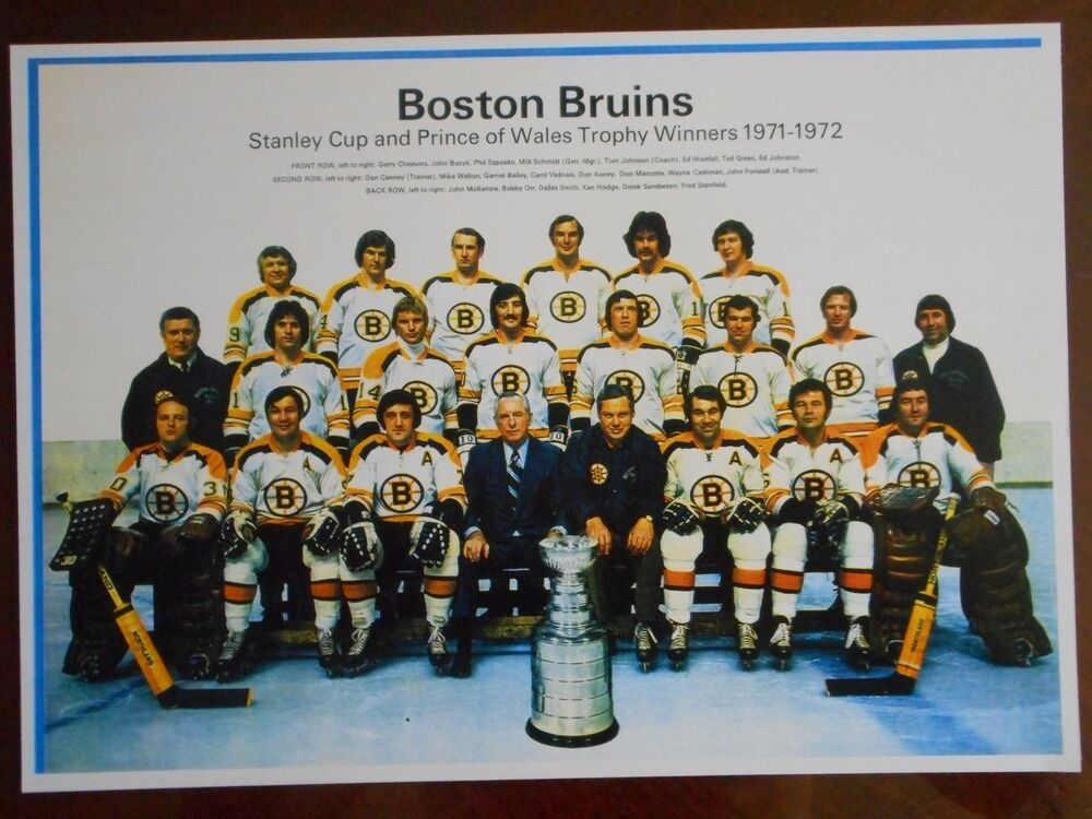 71-72 BOSTON BRUINS STANLEY CUP CHAMPS TEAM PHOTO | eBay