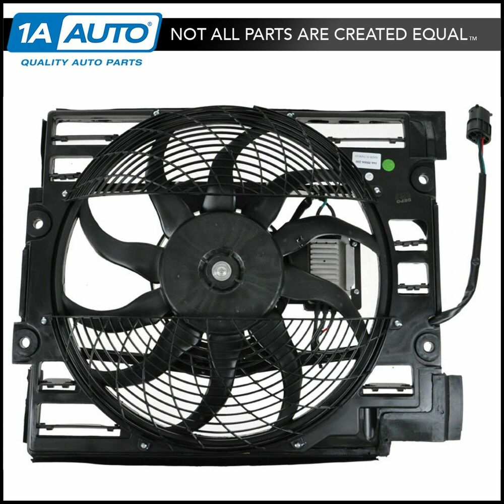 Radiator Cooling Fans : Radiator pusher cooling fan assembly for bmw i