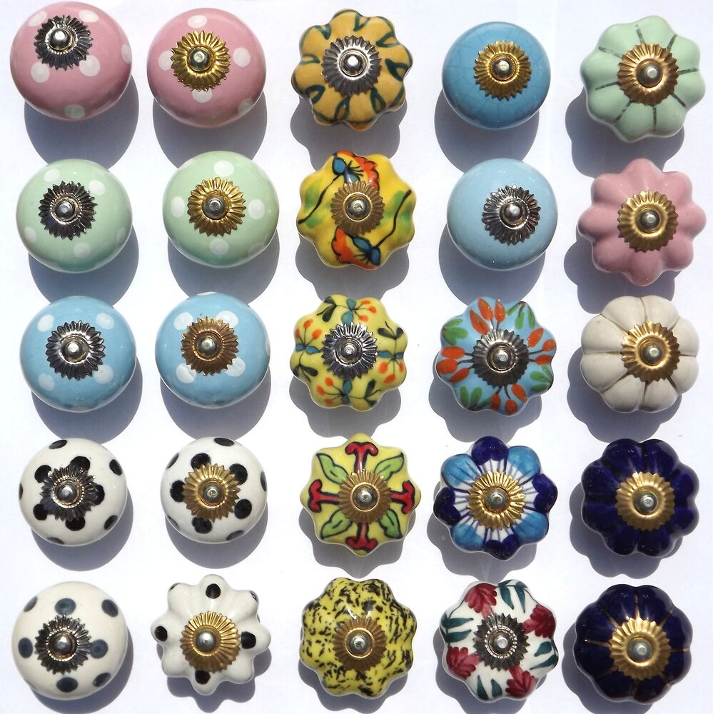 Ceramic Knobs Porcelain Pulls Handles For Doors Drawer