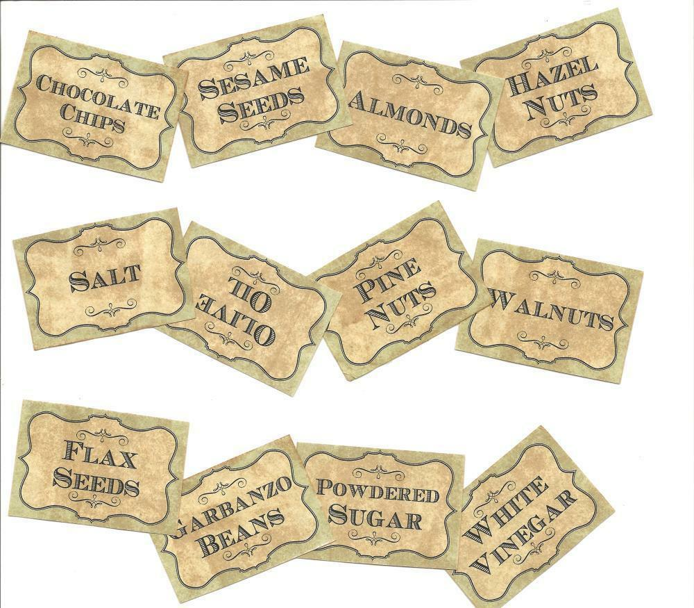 Vintage Kitchen Labels: LOT OF~36 Vintage Look LABELS~Grungy Labels For My Kitchen