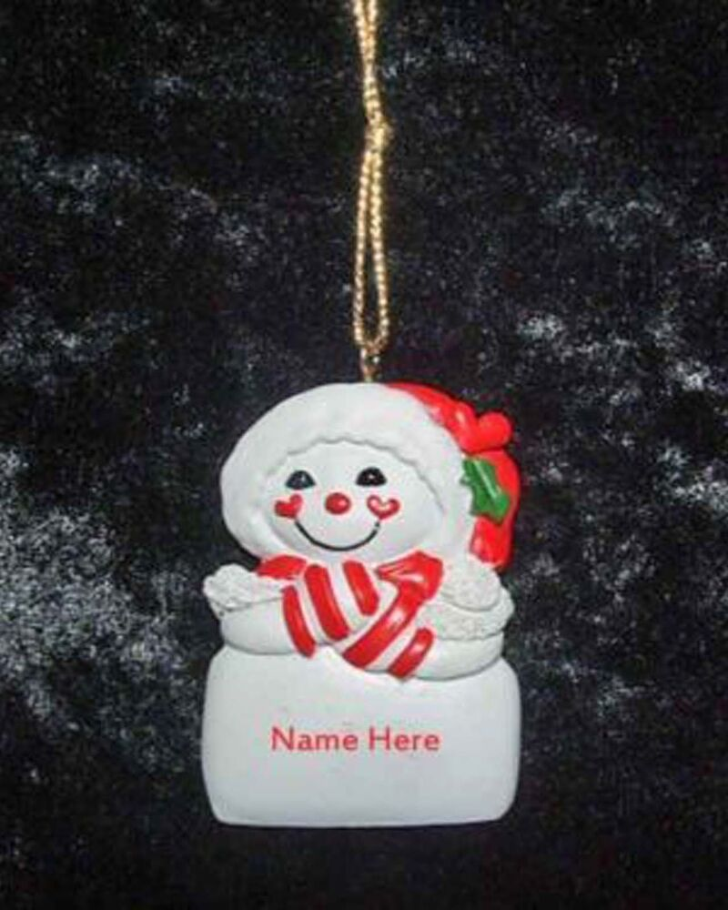 Baptism Ornament Personalized Christmas By Personalizedgallery: Personalized Snowman Christmas Ornament From Kurt Adler