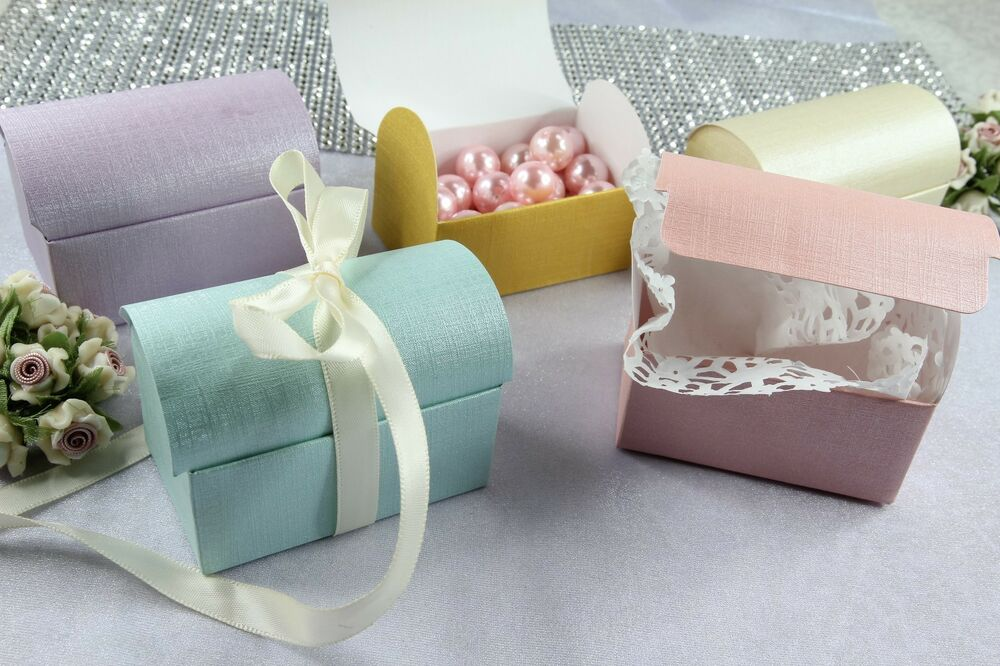 275 Treasure Chest Favor Box Wedding Party Jewelry Candy 2 Macaron Gift Boxes