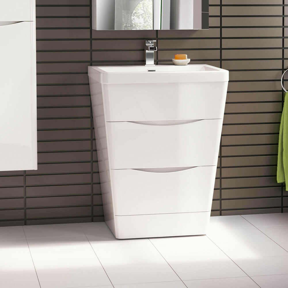 white bathroom units 650 x 840mm modern white bathroom vanity unit amp 15111