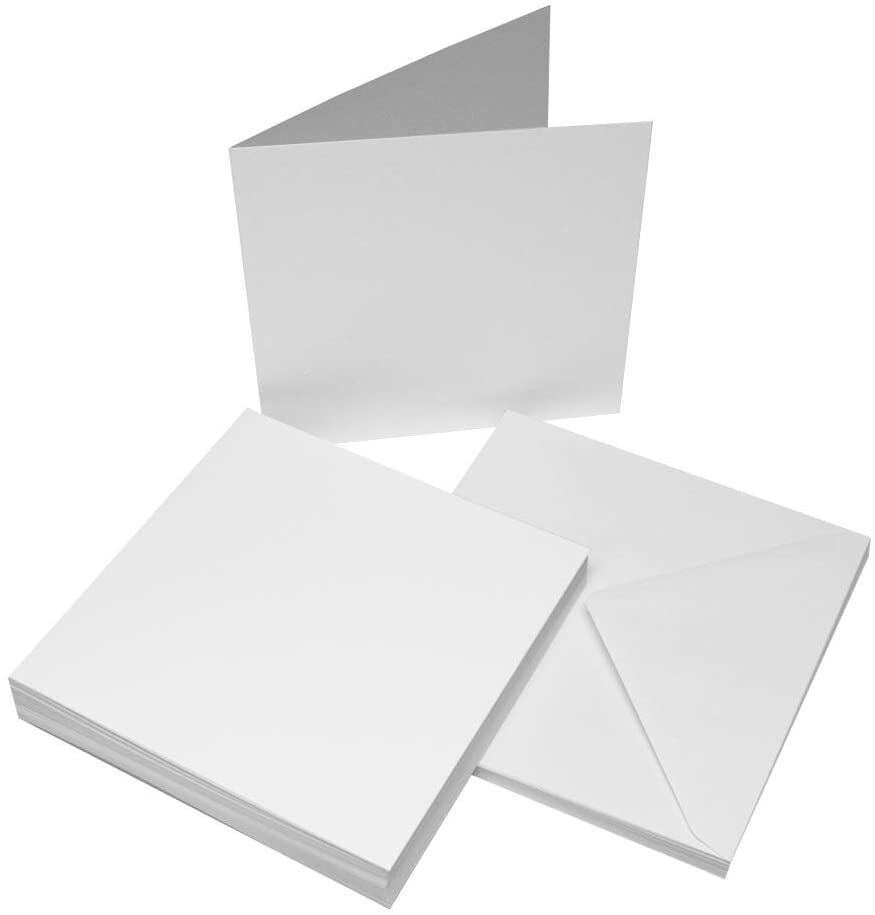 25 X 8 Quot X 8 Quot White Blank Cards 300gsm Envelopes 100gsm