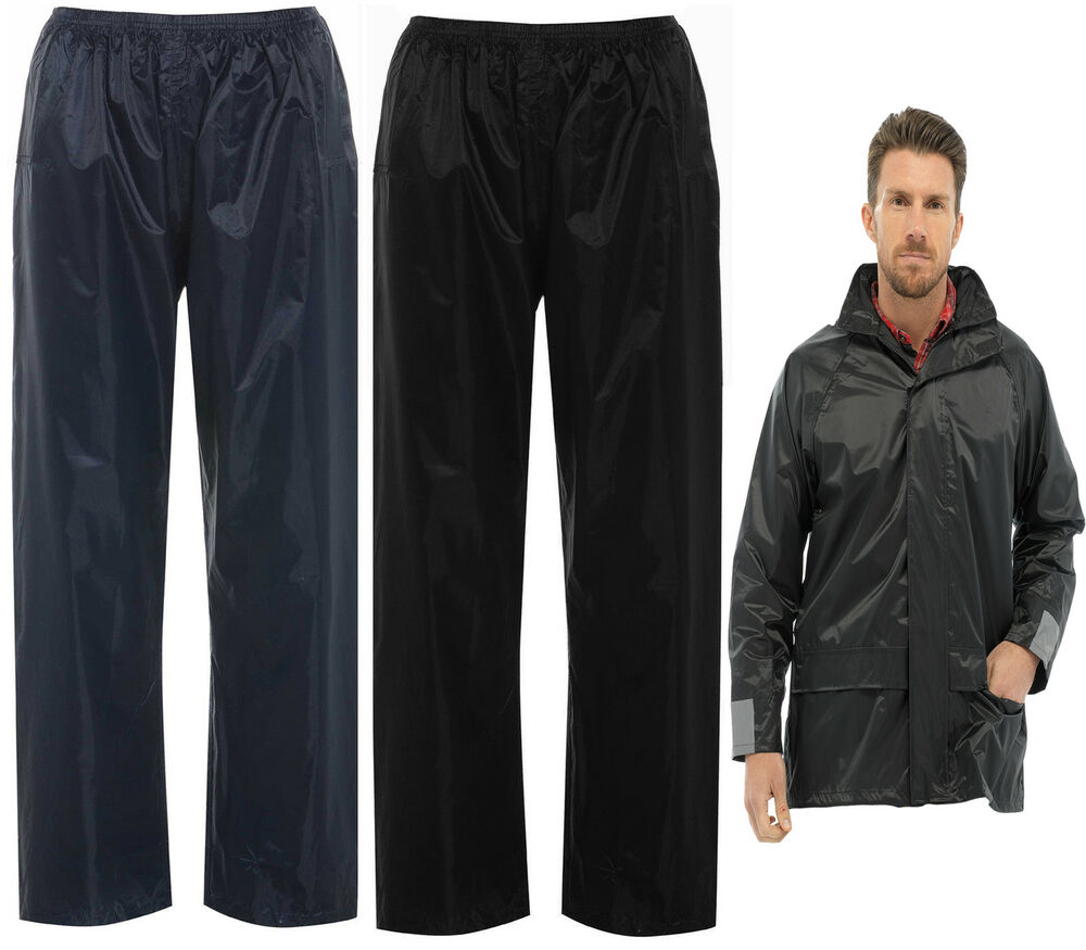 Mens total storm waterproof rain over trousers or jacket for Mens fishing rain gear