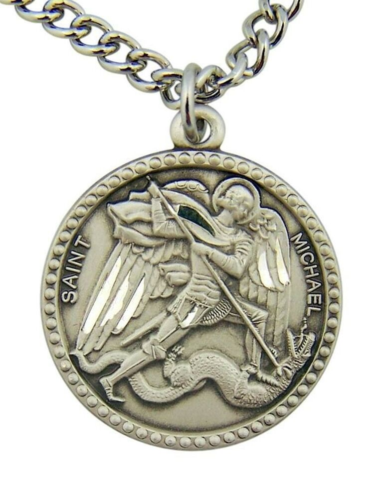Saint Michael The Archangel Slaying Dragon 1 Quot Sterling