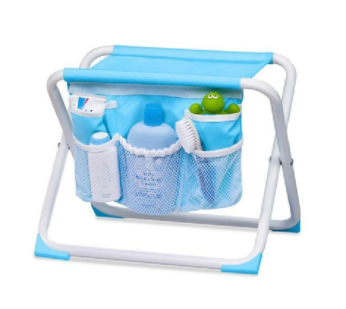 summer infant folding bath tub side seat organizer ebay. Black Bedroom Furniture Sets. Home Design Ideas