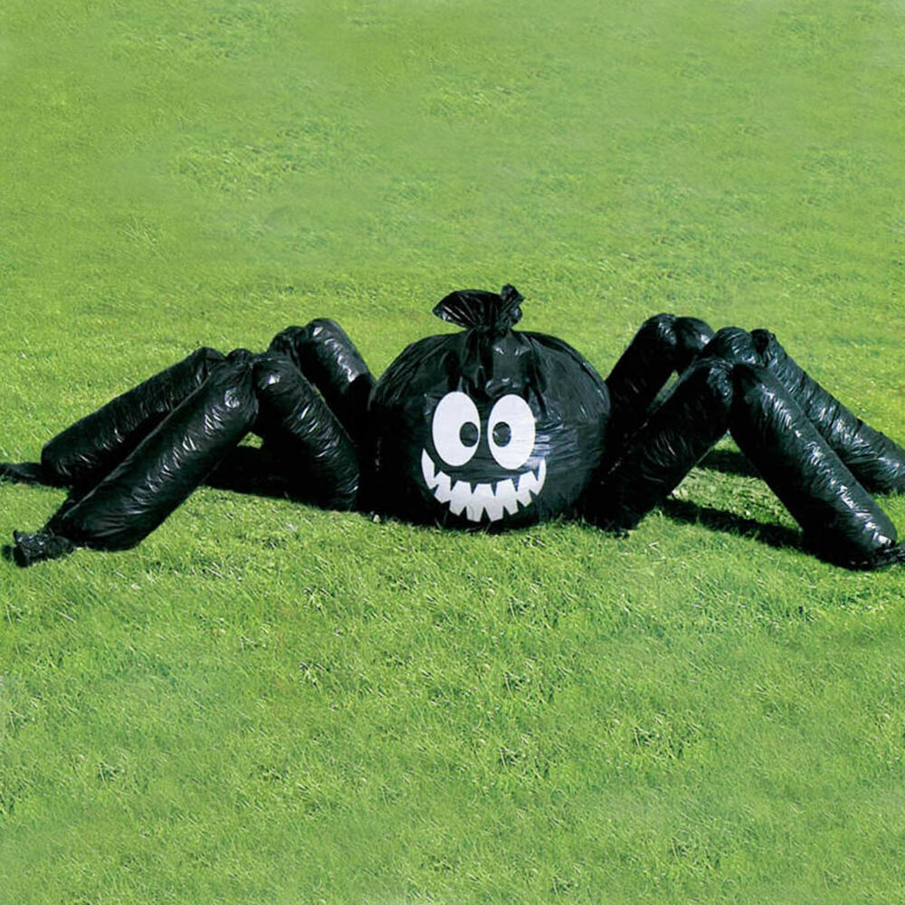 Jumbo halloween spider garden lawn bag party decoration ebay for Jardin decor 37