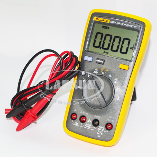 Fluke Capacitor Meter : New v fluke b lcd digital multimeter voltage resistance