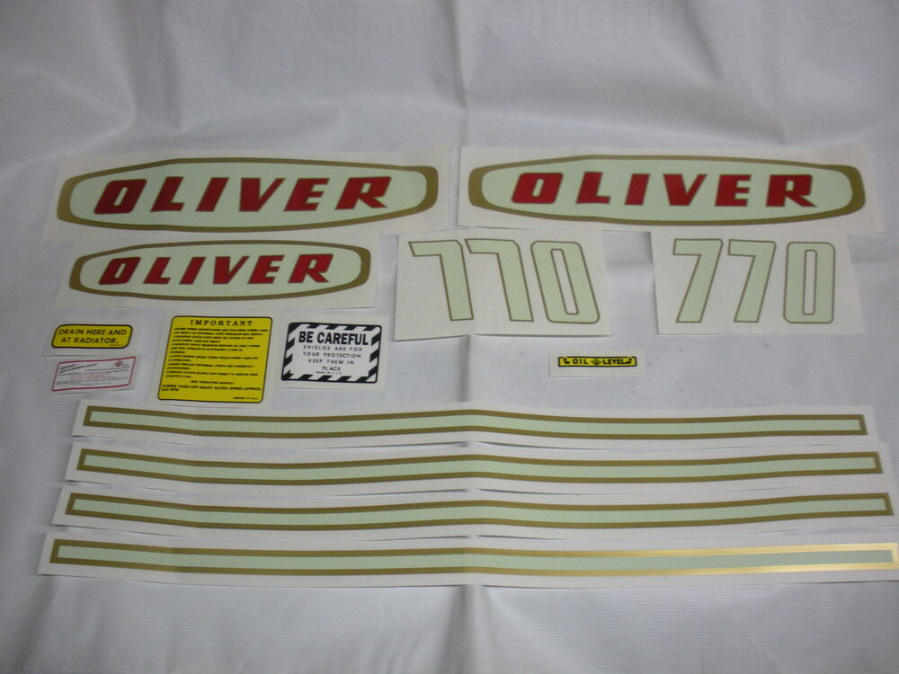 Oliver Tractor Decals : Oliver gasl tractor decal set new free shipping ebay