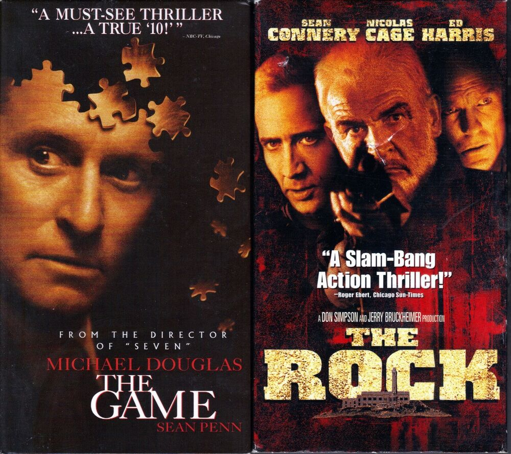 the game vhs 1997 the rock vhs 1998 2 action. Black Bedroom Furniture Sets. Home Design Ideas