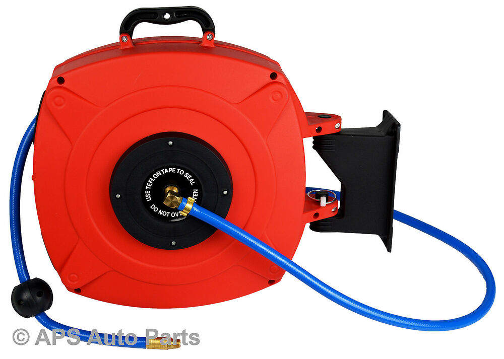 retractable air hose reel auto rewinding air line hose reel 20 meter retractable 29036