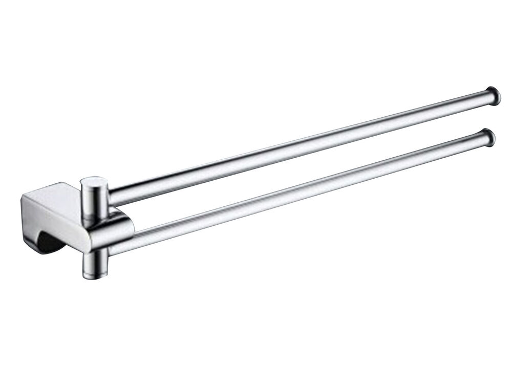 18 Inch Bathroom Double Towel Bar Rail Rack Chrome
