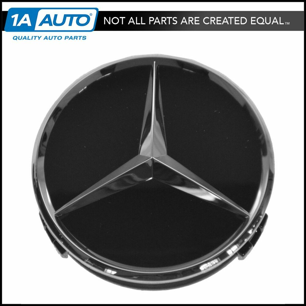 oem raised chrome black wheel center cap for mercedes