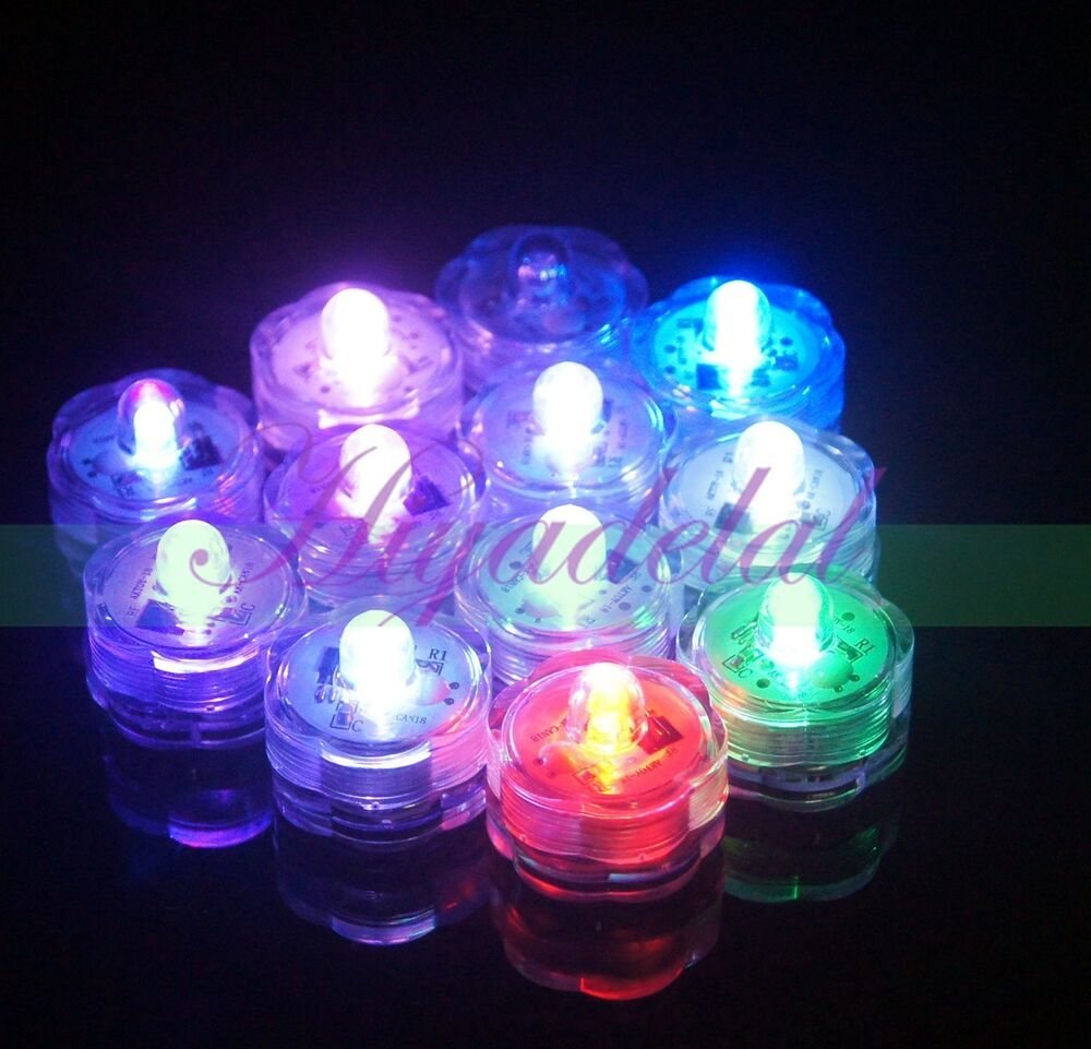 Battery Operated Submersible Led Tea Lights Waterproof