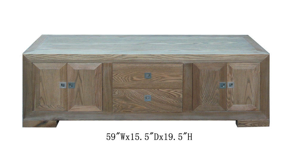 Zen Simple Look Natural Wood Low Altar Table Tv Stand