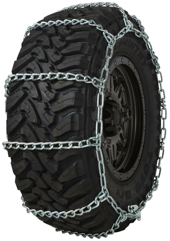 quality chain 3235 wide base non cam 7mm link tire chains snow suv 4x4 truck ebay. Black Bedroom Furniture Sets. Home Design Ideas