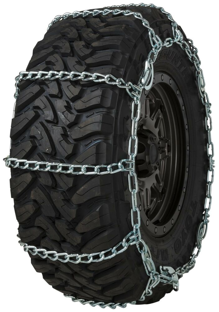 quality chain qc wide base cam mm link tire chains snow suv  truck ebay