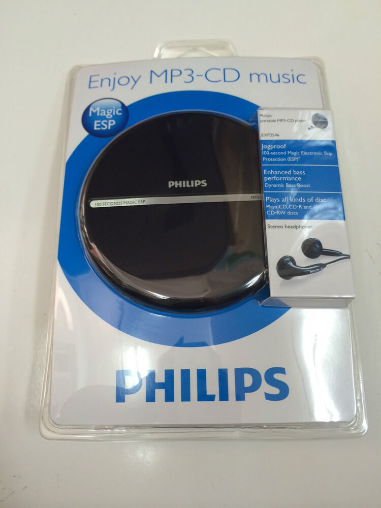 philips exp2546 lcd display portable mp3 cd player ebay. Black Bedroom Furniture Sets. Home Design Ideas