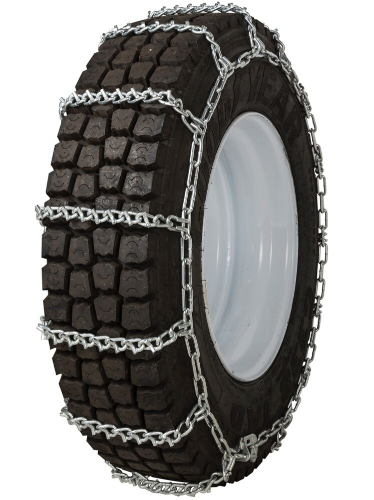 quality chain 2841 non cam 7mm v bar link tire chains snow ice commercial truck ebay. Black Bedroom Furniture Sets. Home Design Ideas