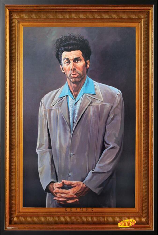Seinfeld The Kramer Painting TV Poster in Black Wood Frame ...