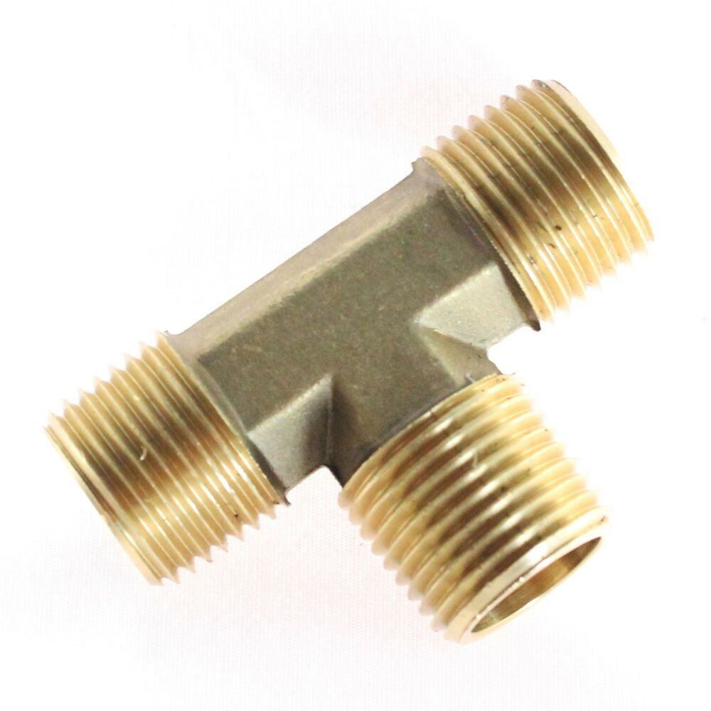 Pc brass pipe tee male t fitting quot npt thread wog