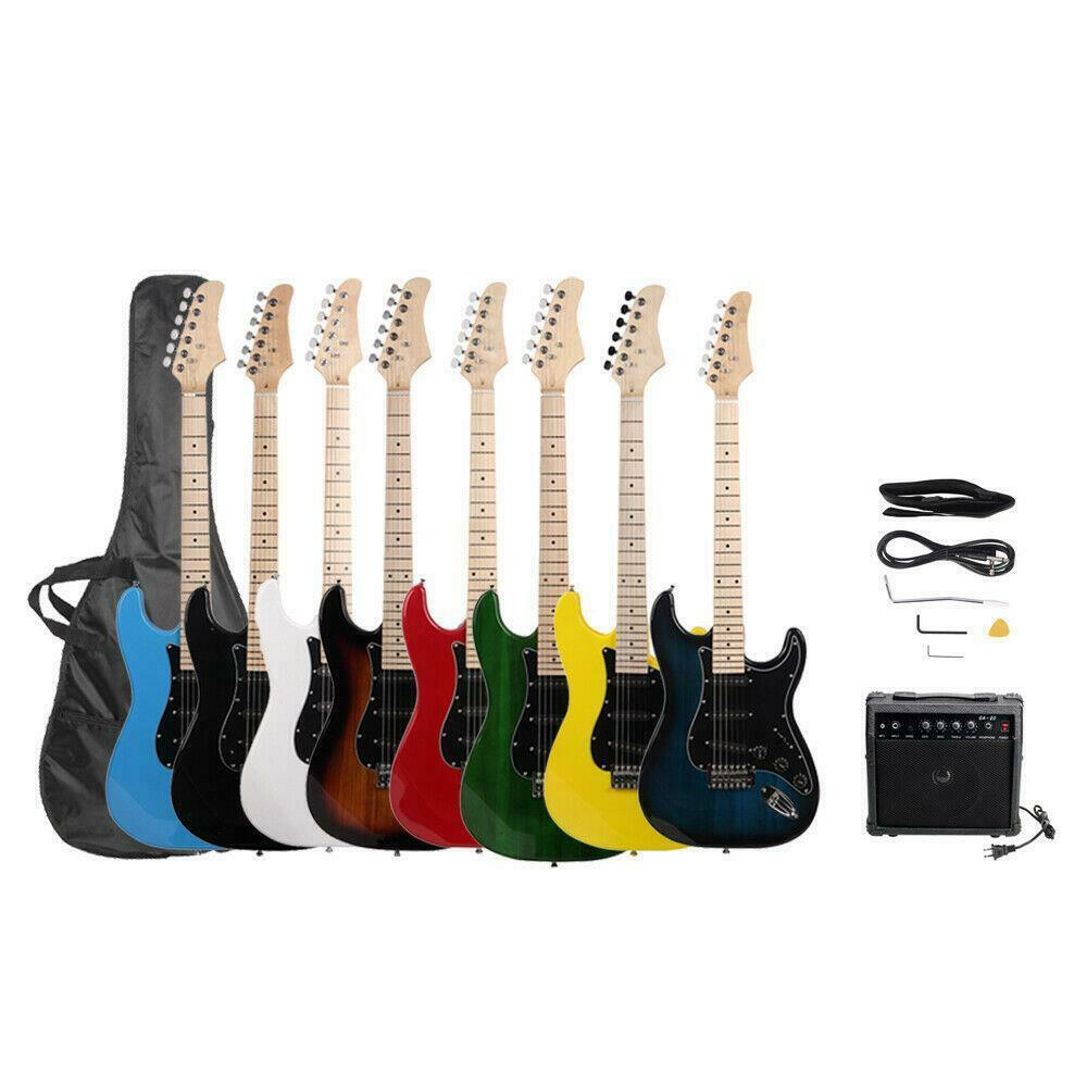 new brand st electric guitar 15w amp strap cord gigbag picks for beginner ebay. Black Bedroom Furniture Sets. Home Design Ideas
