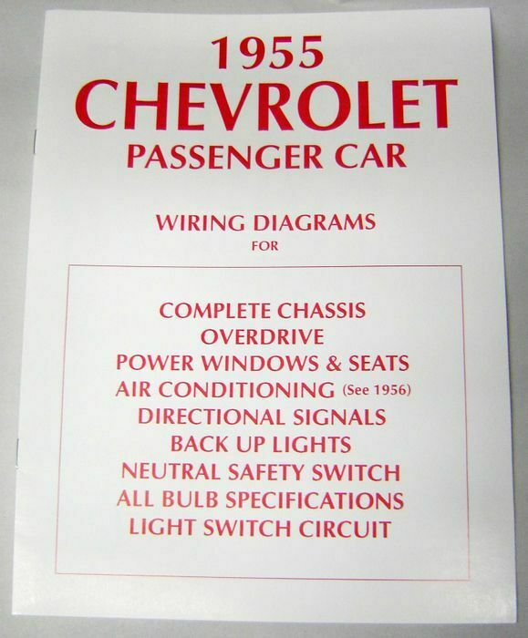 55 1955 Chevy 150 210 Bel Air Electrical Wiring Diagram Manual