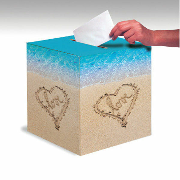 Wedding Shower Gift Card Box : Beach Love Card Box Wedding Bridal Shower Luau Party eBay