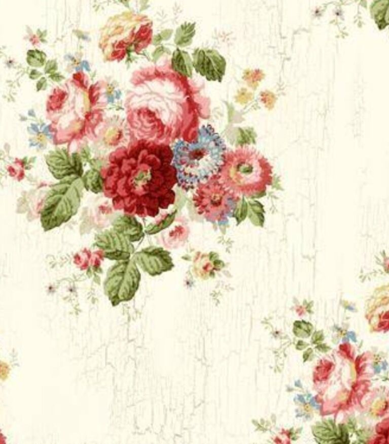 wallpaper vintage flowers cream - photo #24