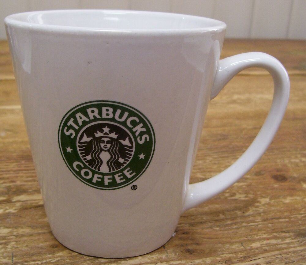 Starbucks White Green Mermaid Logo Ceramic Coffee Mug Cup