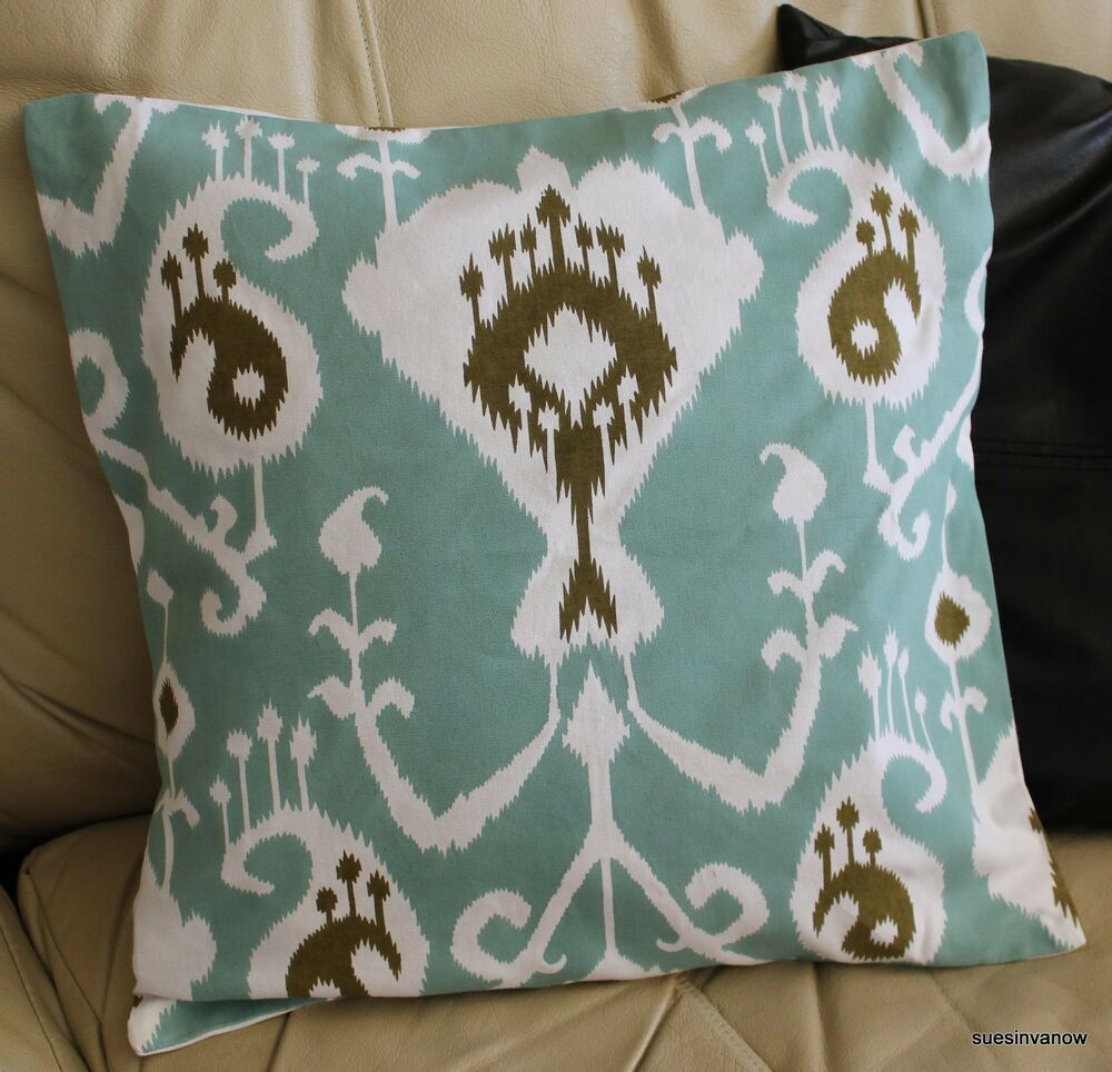 Unique Home Decor: Aqua Accent Pillow Cover Designer Decorative Stylish