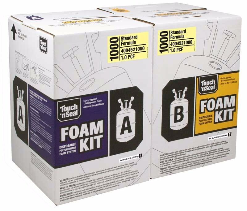 Touch N Seal 1000 Bf Spray Foam Insulation Kit Open Cell