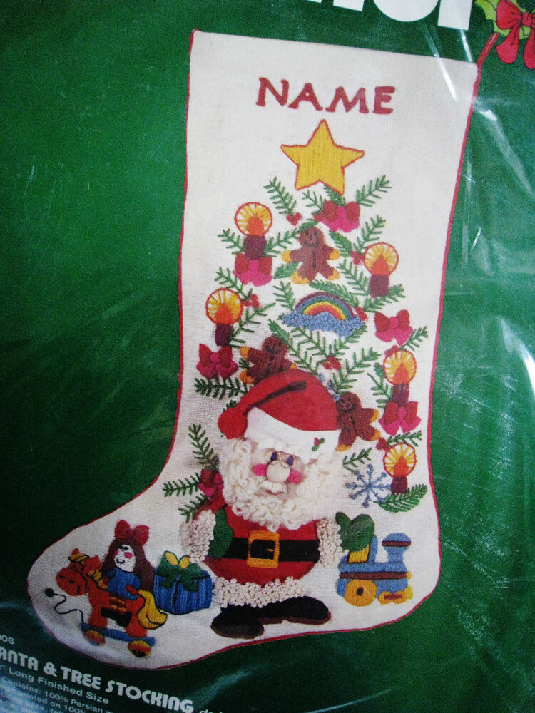 embroidered christmas stockings dimensions crewel stitchery embroidery 29038