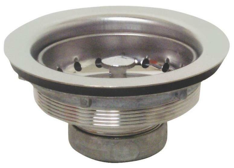 kitchen sink strainers baskets plumb pak pp20208 stainless steel 3 1 2 quot sink strainer 5979