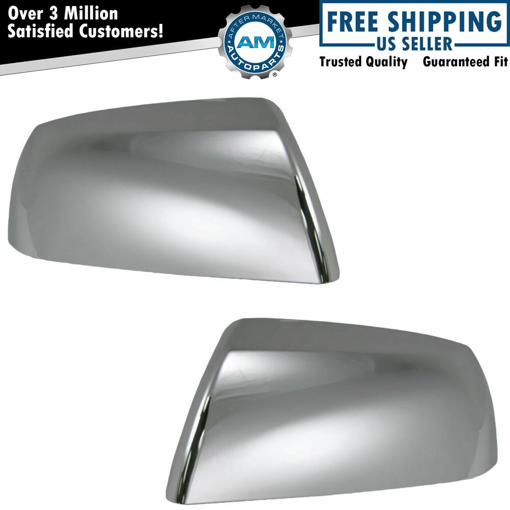 Chrome Side View Mirror Caps Covers Pair Set For Toyota